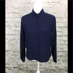 Orvis Blue Scrunch Crinkle Jacket Size S